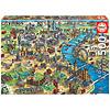 Educa Kaart van Londen - legpuzzel van 500 stukjes