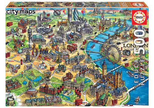 Educa Kaart van Londen - 500 stukjes