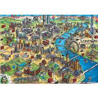 thumb-Kaart van Londen - legpuzzel van 500 stukjes-2