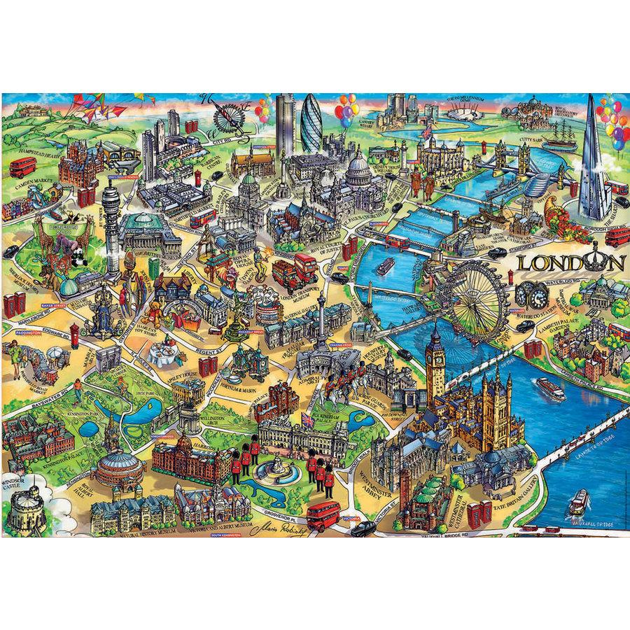 Kaart van Londen - legpuzzel van 500 stukjes-2