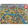 Educa Kaart van Parijs - legpuzzel van 500 stukjes