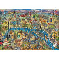 thumb-Kaart van Parijs - legpuzzel van 500 stukjes-2