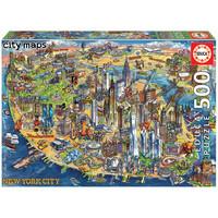 thumb-Kaart van New York - legpuzzel van 500 stukjes-1