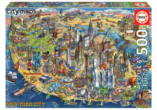 Educa New York Map - 500 pieces