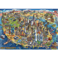 thumb-Kaart van New York - legpuzzel van 500 stukjes-2