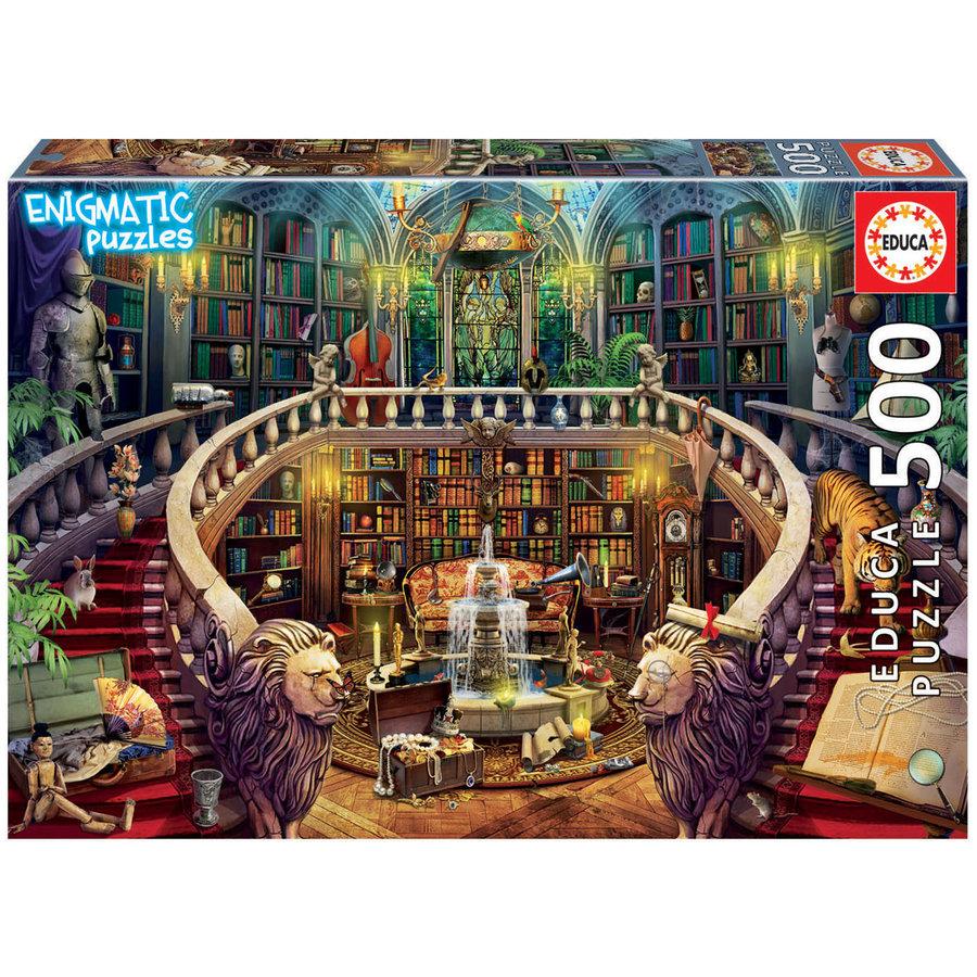 Bibliotheek - legpuzzel van 500 stukjes-1