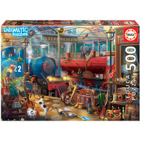 thumb-The Train Station  -  jigsaw puzzle of 500 pieces-1