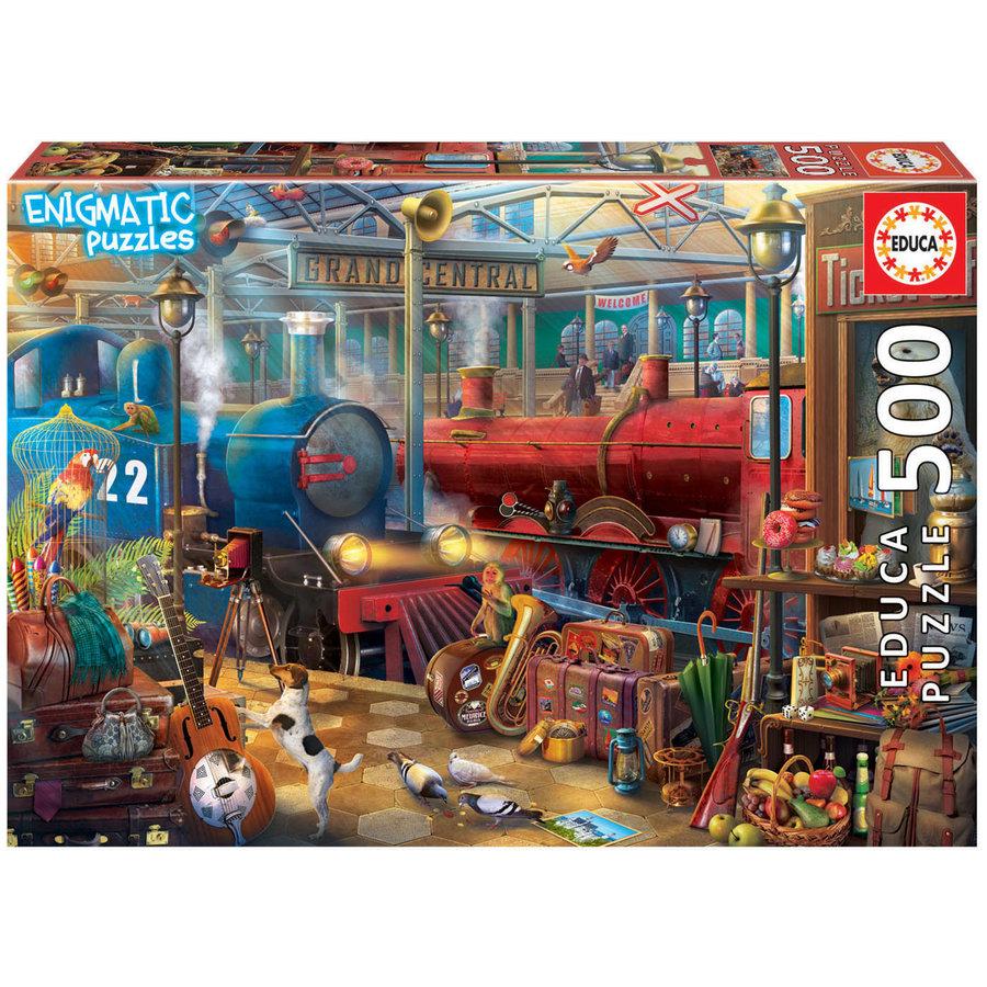 Het treinstation - legpuzzel van 500 stukjes-1