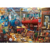 thumb-The Train Station  -  jigsaw puzzle of 500 pieces-2