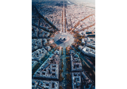 Parijs van bovenaf gezien - 1000 stukjes