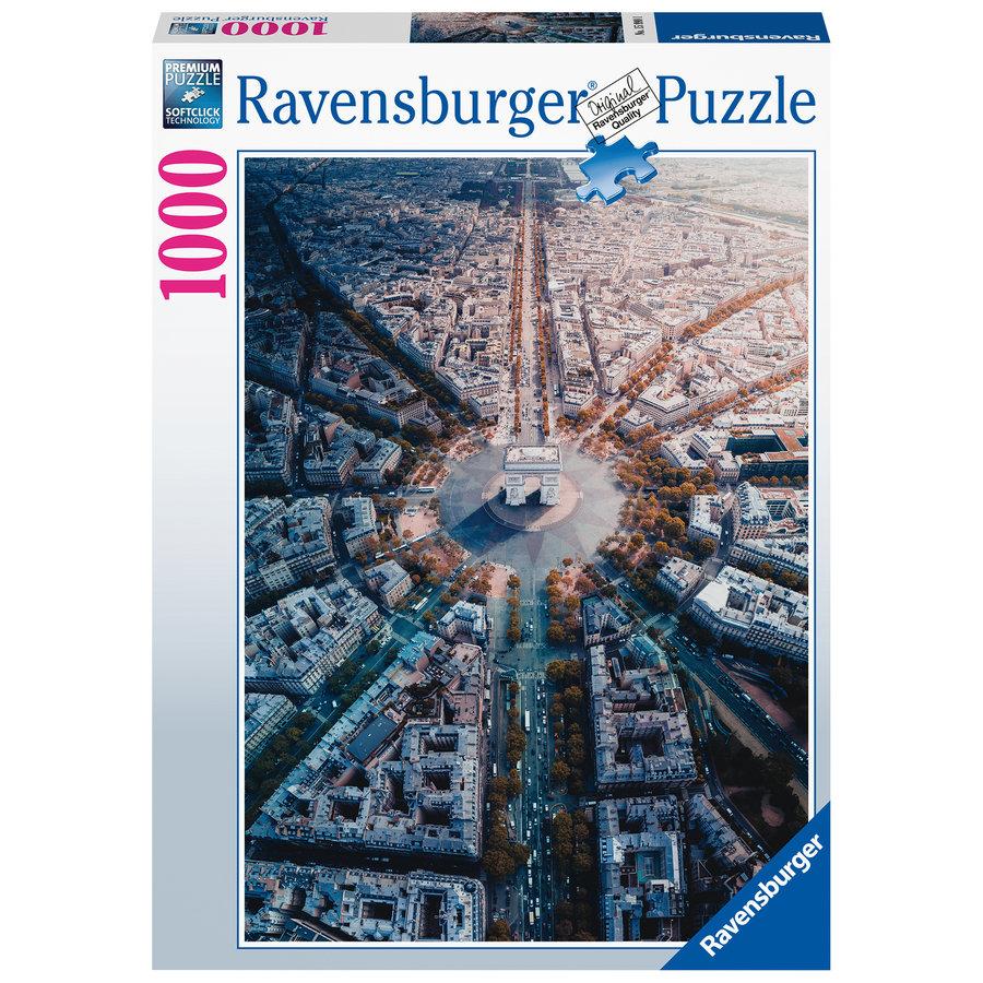 Parijs van bovenaf gezien - 1000 stukjes-2