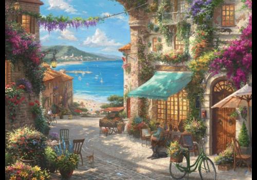 Café aan de Italiaanse Rivièra - 1000 stukjes