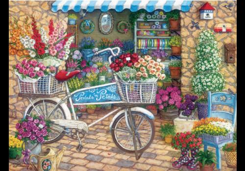 Fiets bij de bloemenwinkel - 275 XXL stukjes