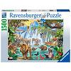 Ravensburger Waterval in de jungle - puzzel van 1500 stukjes