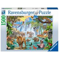 Waterval in de jungle - puzzel van 1500 stukjes