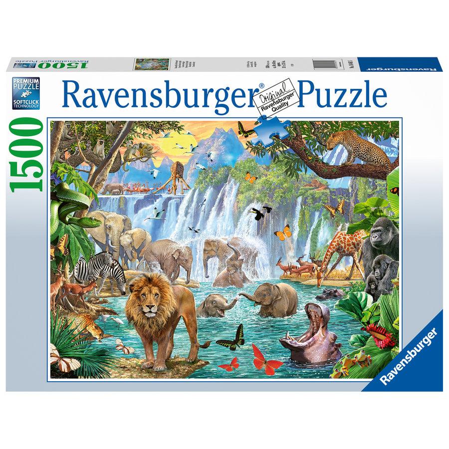 Waterval in de jungle - puzzel van 1500 stukjes-1