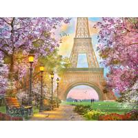 thumb-Amoureux à Paris - puzzle de 1500 pièces-1