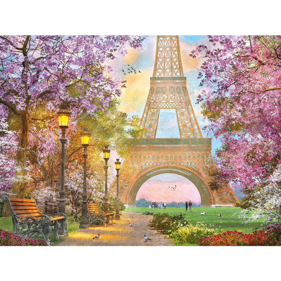 Amoureux à Paris - puzzle de 1500 pièces-1
