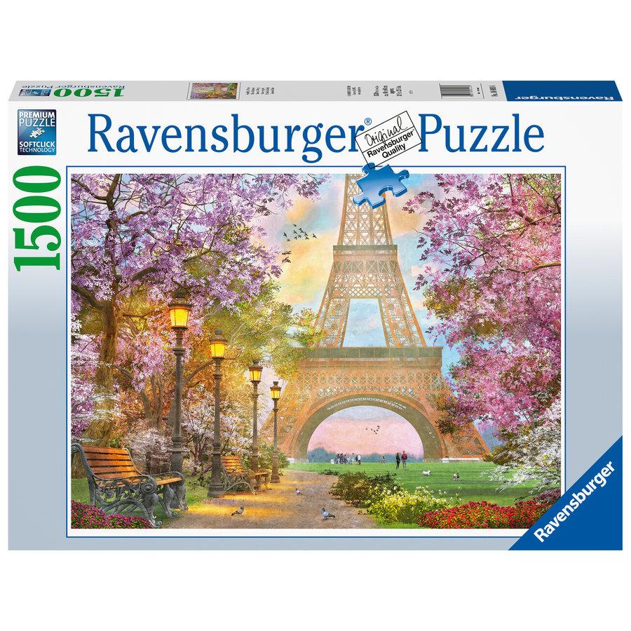 Amoureux à Paris - puzzle de 1500 pièces-2
