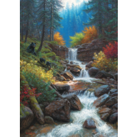 thumb-Mountain Cascade - puzzle of 1000 pieces-1