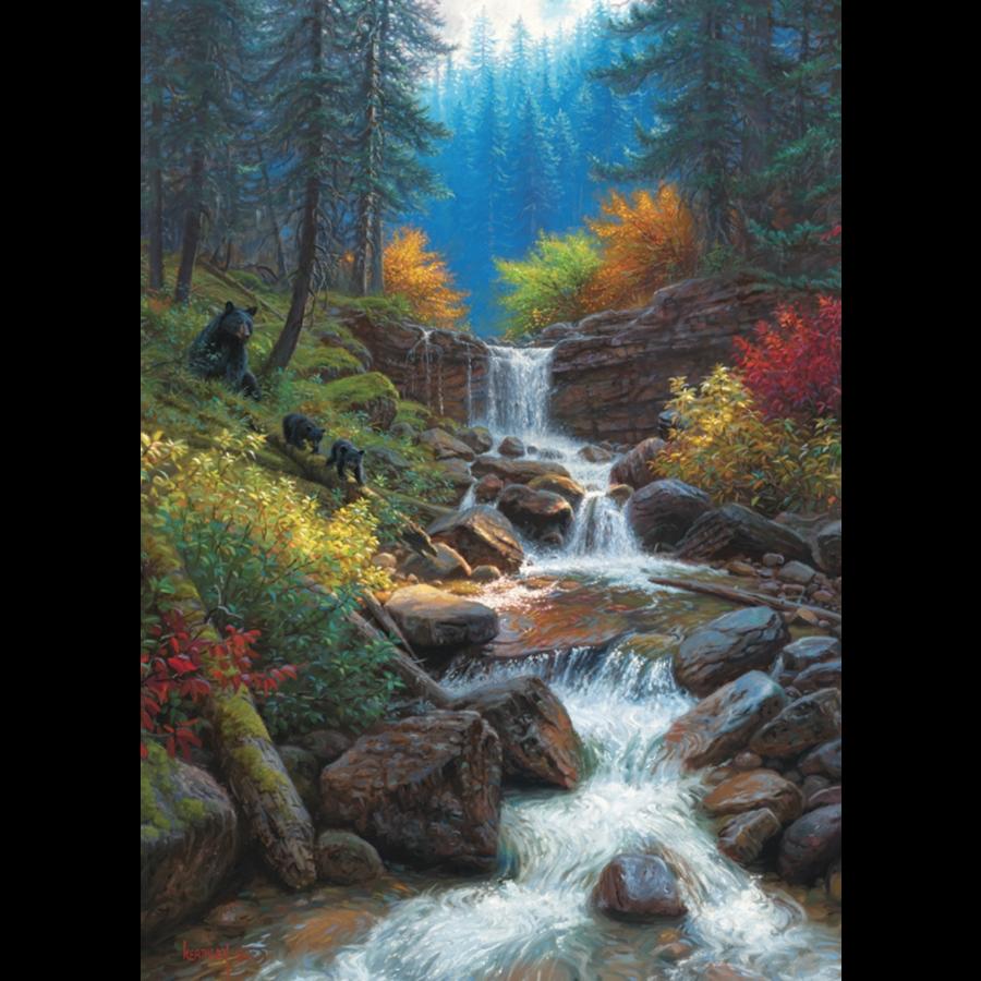 Mountain Cascade - puzzle of 1000 pieces-1