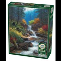 thumb-Cascade de montagne - puzzle de 1000 pièces-2