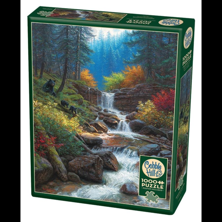 Cascade de montagne - puzzle de 1000 pièces-2