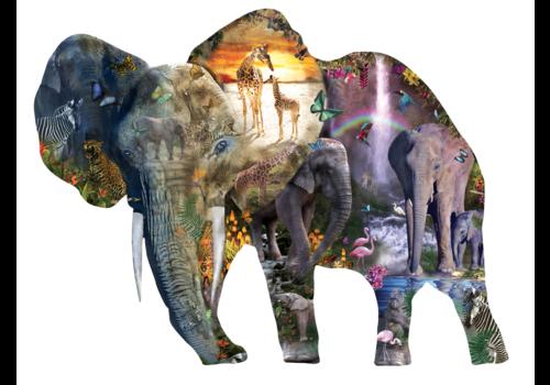 SUNSOUT Eléphant à la chute d'eau - 1000 pièces
