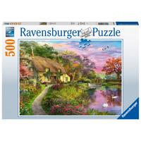 thumb-Maison de campagne - puzzle de 500 pièces-2