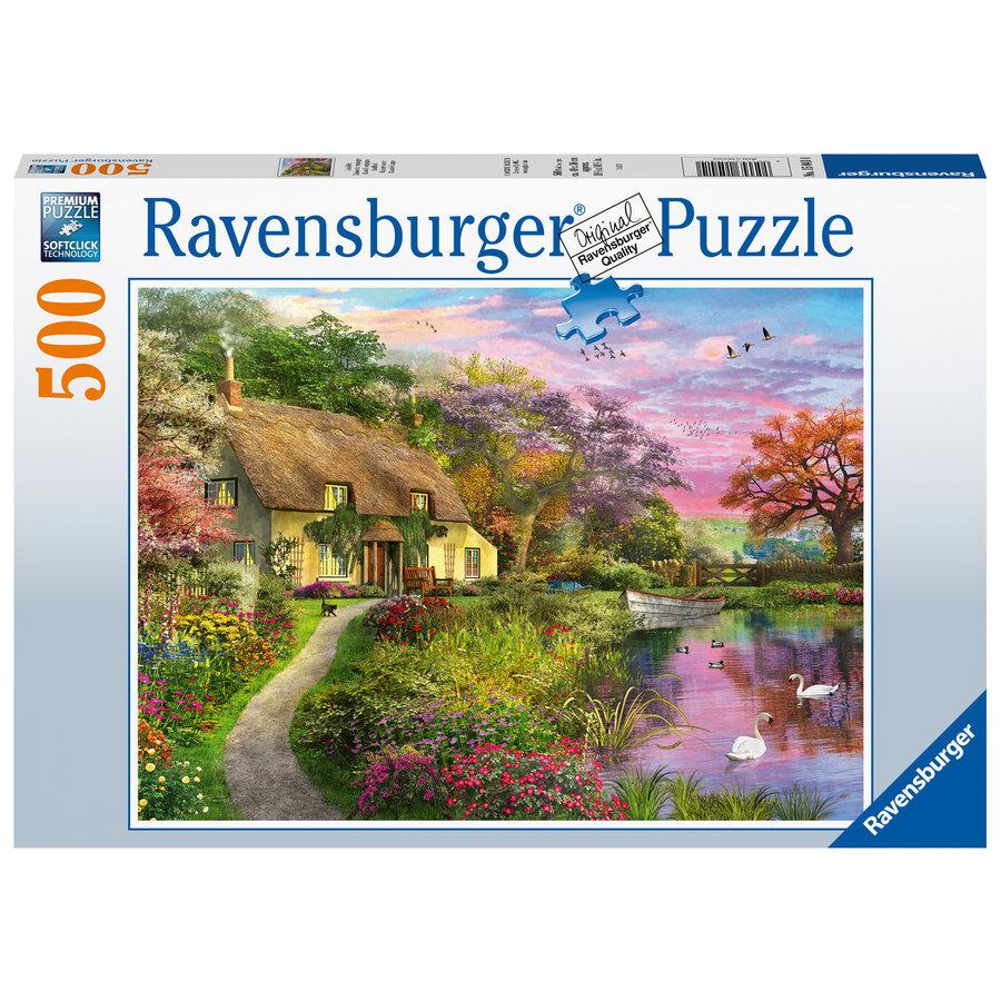 Maison de campagne - puzzle de 500 pièces-2