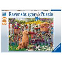 thumb-Chiens mignons dans le jardin - puzzle de 500 pièces-2