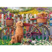 thumb-Chiens mignons dans le jardin - puzzle de 500 pièces-1