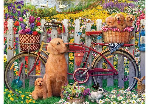 Ravensburger Schattige hondjes in de tuin - 500 stukjes