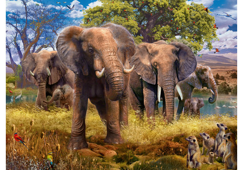 Family Elephants  - 500 pieces