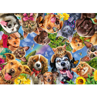 thumb-Animals selfie  - jigsaw puzzle of 500 pieces-1