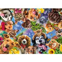 thumb-Dieren selfie - puzzel van 500 stukjes-1