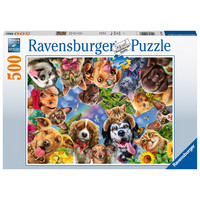 thumb-Animals selfie  - jigsaw puzzle of 500 pieces-2