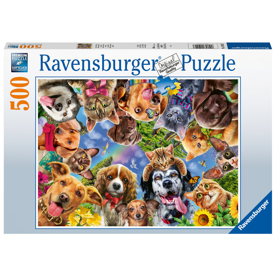 Animals selfie  - jigsaw puzzle of 500 pieces-2