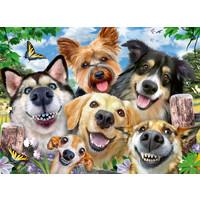 thumb-Honden selfie - puzzel van 500 stukjes-1