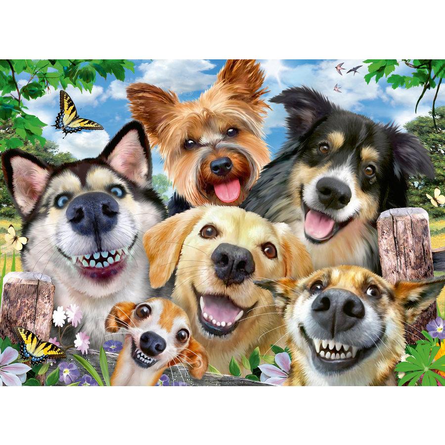 Honden selfie - puzzel van 500 stukjes-1