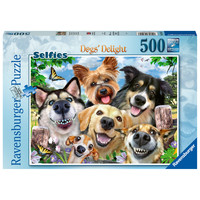 thumb-Honden selfie - puzzel van 500 stukjes-2