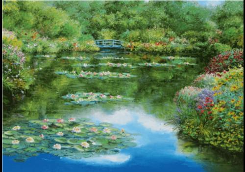 L'étang aux nénuphars - 1000 pièces