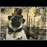 thumb-Steampunk Hond - puzzel van 1000 stukjes-1