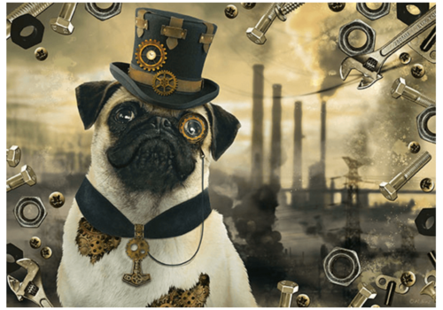 Steampunk Dog - 1000 pieces