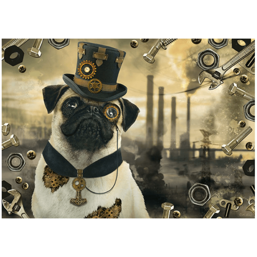 Steampunk Hond - puzzel van 1000 stukjes-1