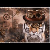 thumb-Steampunk Tijger - puzzel van 1000 stukjes-1
