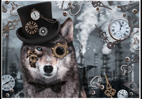 Steampunk Wolf - 1000 stukjes