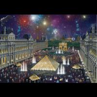 thumb-Vuurwerk bij het Louvre - 1000 stukjes-1