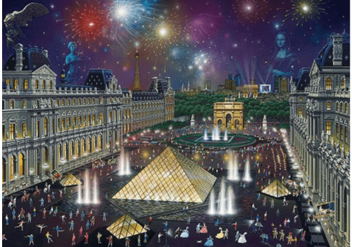 Fireworks at the Louvre - 1000 pieces