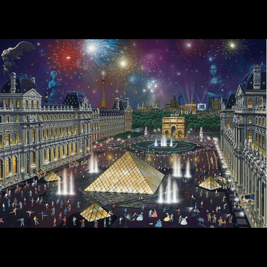 Vuurwerk bij het Louvre - 1000 stukjes-1